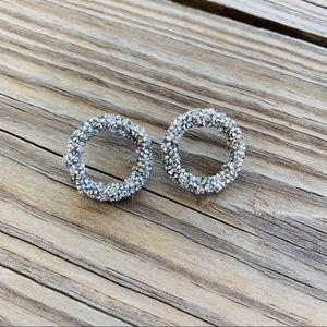 Jewelry - Crystal Sphere Circle Studs